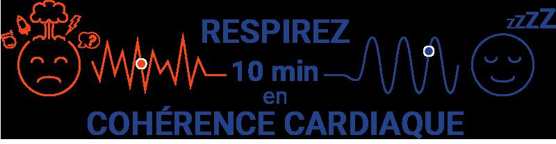 Respirez 10 minutes en cohérence cardiaque